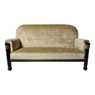 Early 20th Century Hungarian Art Deco Settee For Sale