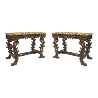 19th Century Black Forest Console Tables - a Pair For Sale
