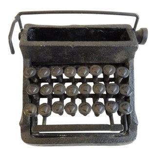 Rustic Mini Black Typewriter Card Holder