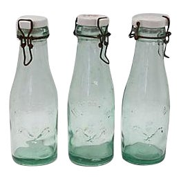 Antique French Canning Bottles - Set of 3 For Sale