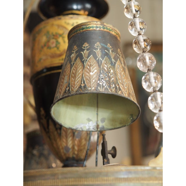 18th Century French Tole and Crystal Chandelier For Sale - Image 9 of 11
