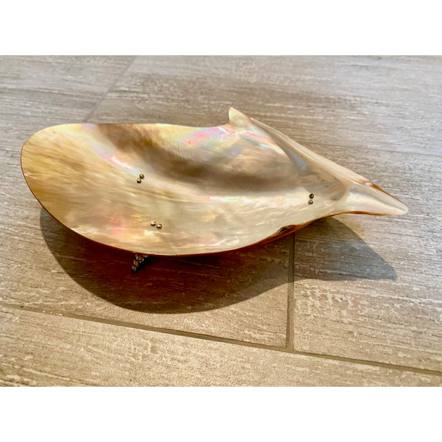 Shell Dish on Metal Legs For Sale - Image 4 of 4