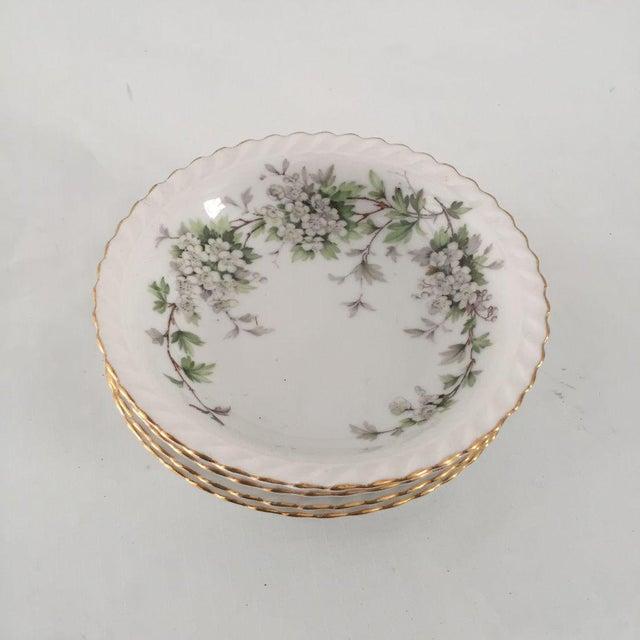 Cottage Vintage Dogwood Floral Bowls - Set of 4 For Sale - Image 3 of 6