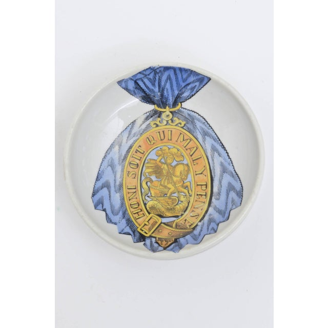 Piero Fornasetti Fornasetti Hallmarked Gilded Porcelain Buckle Bowl or Dish For Sale - Image 4 of 9
