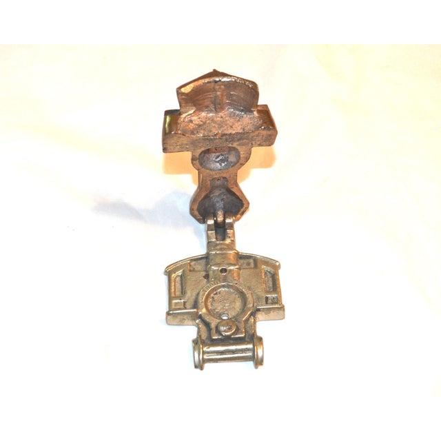 Brass 1970s Locomotive Door Knocker For Sale - Image 7 of 10