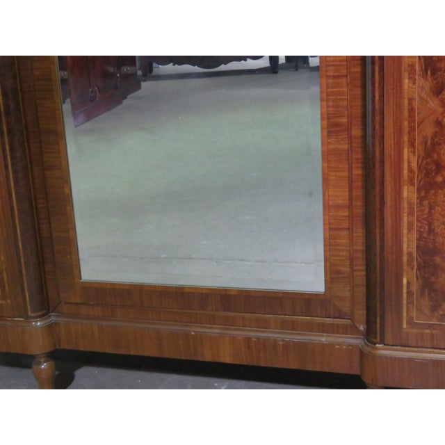 Early 20th Century Regency Style Inlaid Armoire For Sale - Image 5 of 13