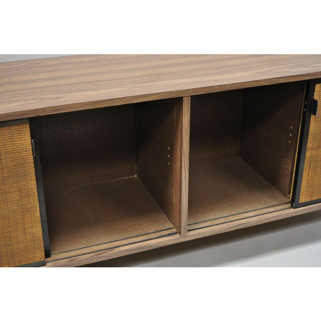 1970s Mid Century Modern Laminate Formica Case Credenza For Sale - Image 9 of 13