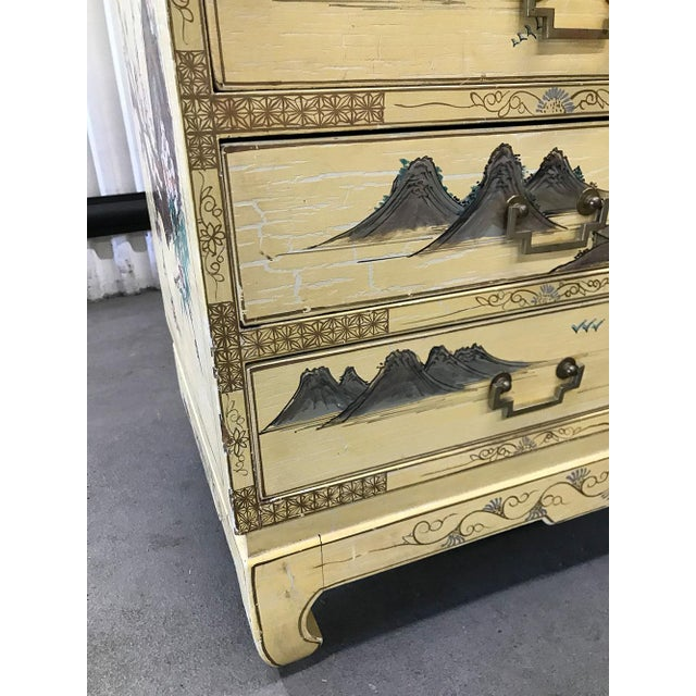 Vintage Chinoiserie Hand-Painted Secretary For Sale - Image 12 of 12