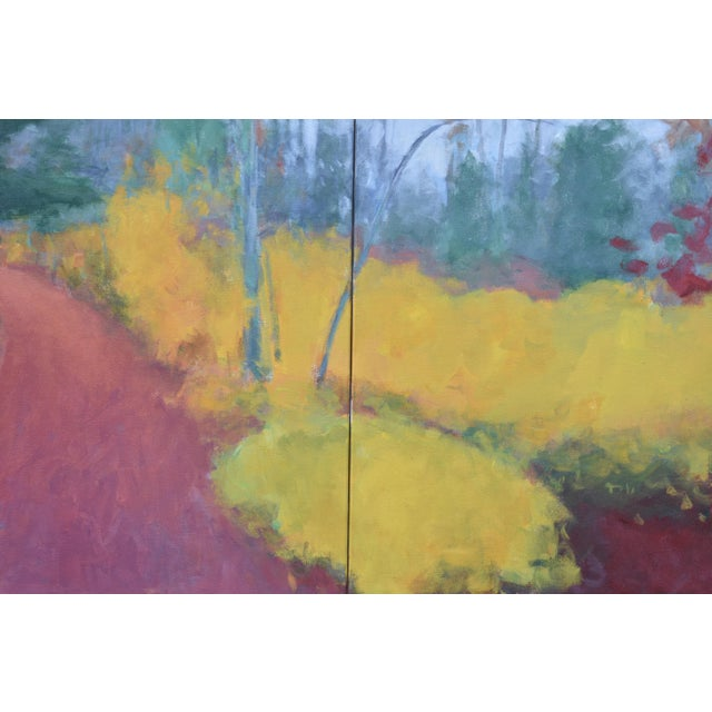 "Stephen Remick ""Turning"" Trail in Autumn Acrylic Painting by Stephen Remick For Sale - Image 4 of 13"