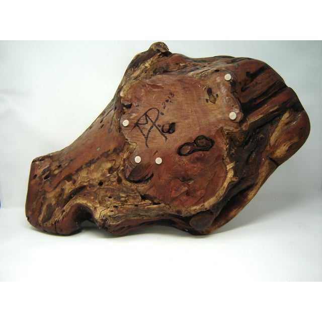 Texas Mesquite Live Edge Root Bowl For Sale - Image 6 of 8