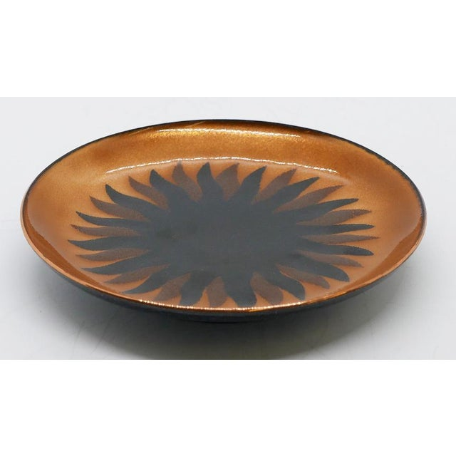 Mid-Century enamel small dish by Miguel Pineda of Mexico. He was known for his vibrant enamelware designs. Would make a...