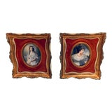Image of Antique Prints in Gilt Frames Amersterdam Gallery For Sale