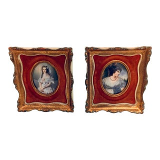 Antique Prints in Gilt Frames Amersterdam Gallery For Sale
