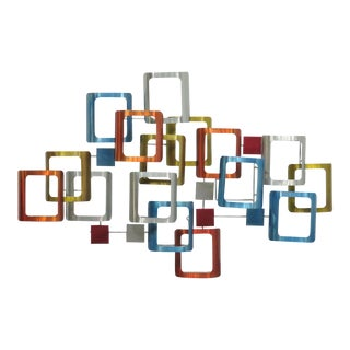 Mid-Century Modern Anodized Metal Wall Art For Sale
