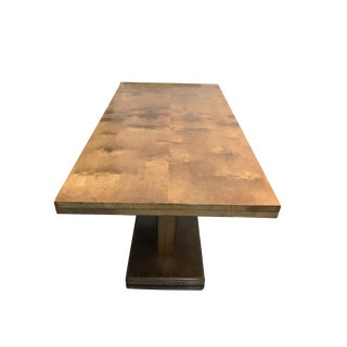 1930s Art Deco Wooden Console Dining Table For Sale