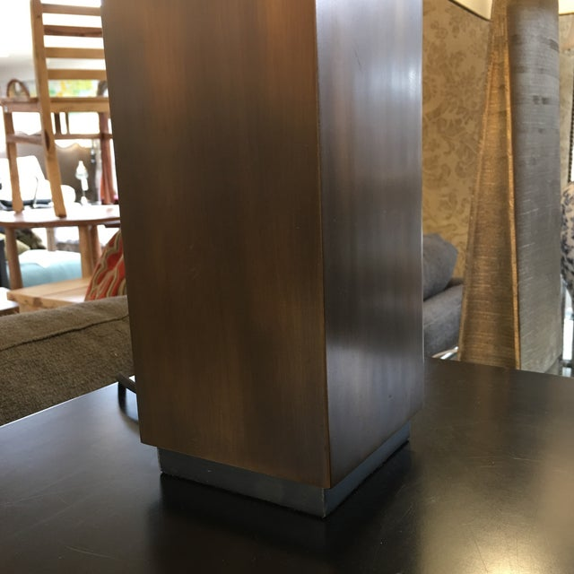 Restoration Hardware Square Column Table Lamp - A Pair For Sale In San Francisco - Image 6 of 7