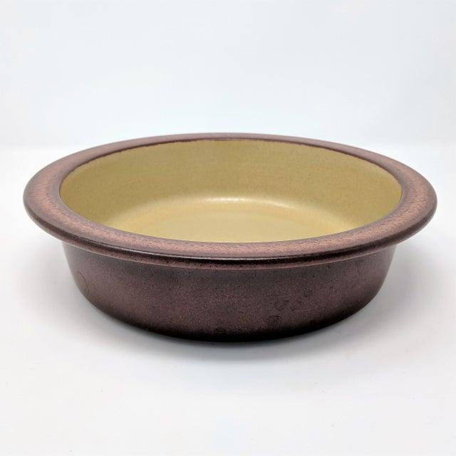 Brown 1980's Vintage Heath Ceramics Rim Line Serving Bowl For Sale - Image 8 of 8