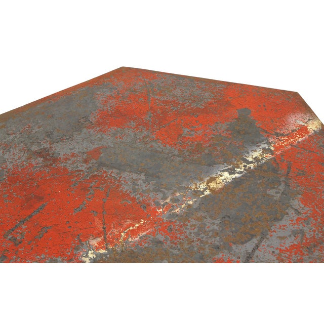 Beautifully Distressed Frank Lloyd Wright & Warren McArthur Biltmore Cafe Table For Sale - Image 5 of 8