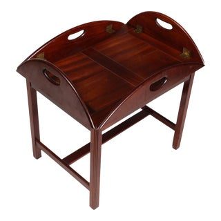 Chippendale Style Mahogany Butler Table For Sale