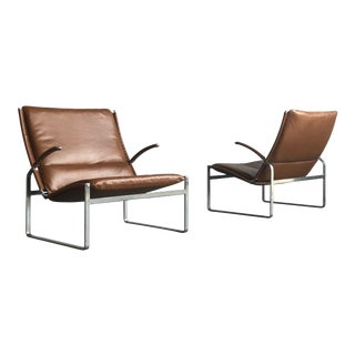 Preben Fabricius and Jørgen Kastholm Lounge Chairs - a Pair For Sale
