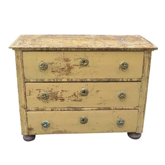 Antique French Three Drawer Chest For Sale In Boston - Image 6 of 6
