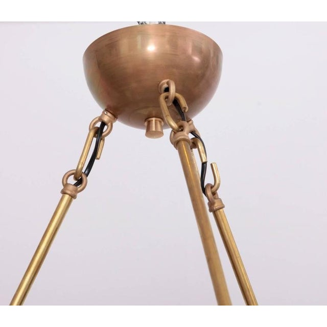 Very Huge and Impressive Murano and Brass Chandelier Attributed to Stilnovo For Sale - Image 4 of 8