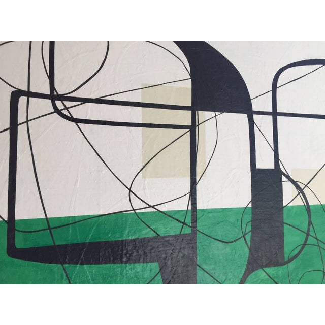 Maura Segal Maura Segal Grasshopper Green Mid Century Modern Style 2016 For Sale - Image 4 of 6