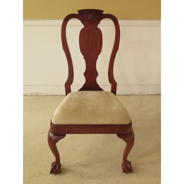Henkel Harris Ball & Claw Cherry Dining Room Chairs - Set of 8 - Image 10 of 11