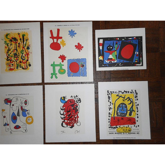 Abstract Vintage Modernist Abstract Lithographs-Joan Miro-Set of 8 For Sale - Image 3 of 5