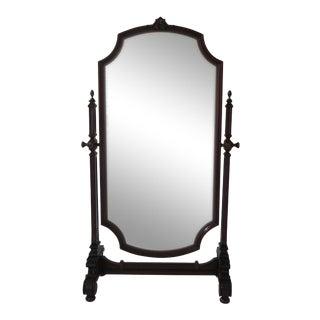 Maitland Smith Mahogany Cheval Dressing Mirror For Sale