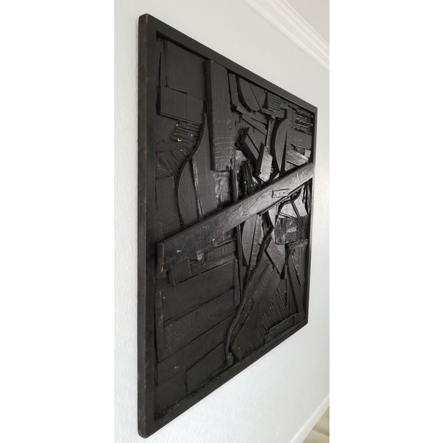 For your consideration we are presenting for sale a Large stunning mid-century mixed media art collage expressionist...