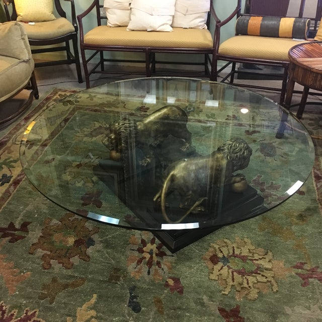 Medici Bronze Lions Cocktail Table - Image 2 of 10