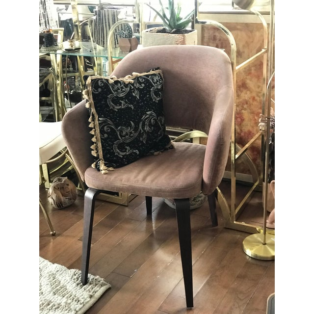The sculptural masterpiece with gorgeous original upholstery. Offered here in excellent vintage condition - in rose pink...