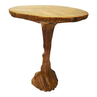 Organic Modern Sculpted Laminated Wood Bistro Table For Sale