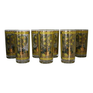 Georges Briard Lemon Tree Highball Glasses - Set of 8 For Sale