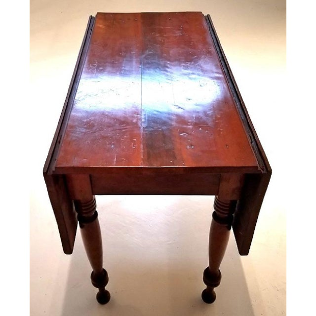 American 19c Virginia Shaker Drop Leaf Table - With Provenance For Sale - Image 3 of 13