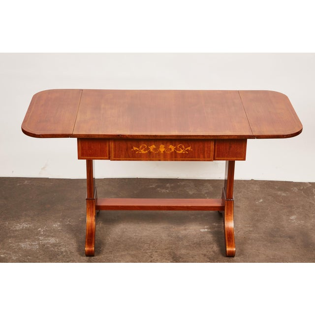 Empire 19th Century Danish Empire Mahogany Salon Table For Sale - Image 3 of 11