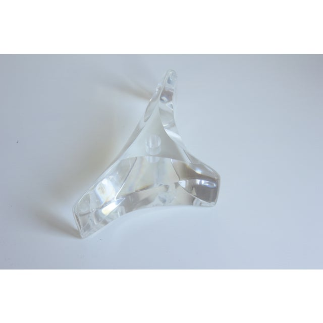 Sculptured Lucite Candleholder - Image 3 of 8