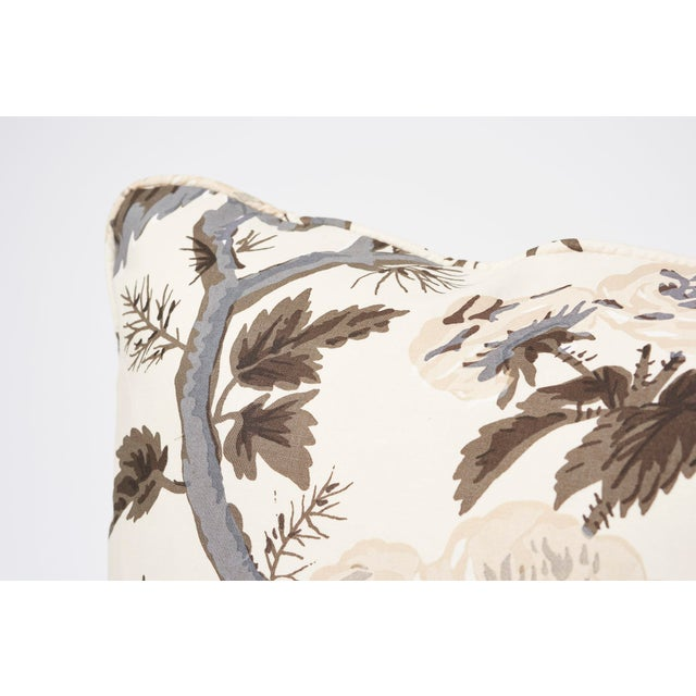 Contemporary Schumacher Double-Sided Pillow in Pyne Hollyhock Print For Sale - Image 3 of 9