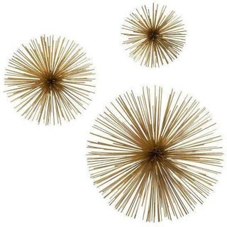 Brass Urchin Objects - Set of 3