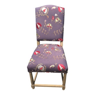 Hudson Parsons Fabric Side Chair For Sale