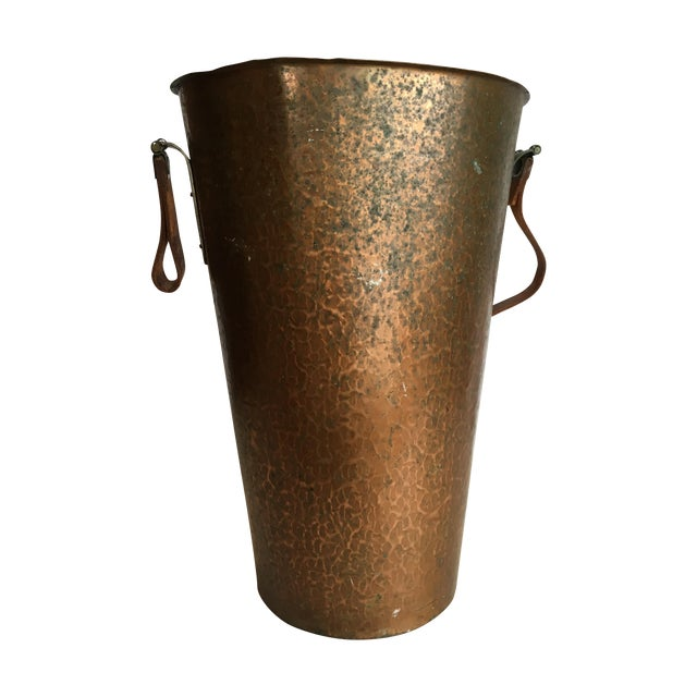 Hammered Copper Trash Can - Image 1 of 3
