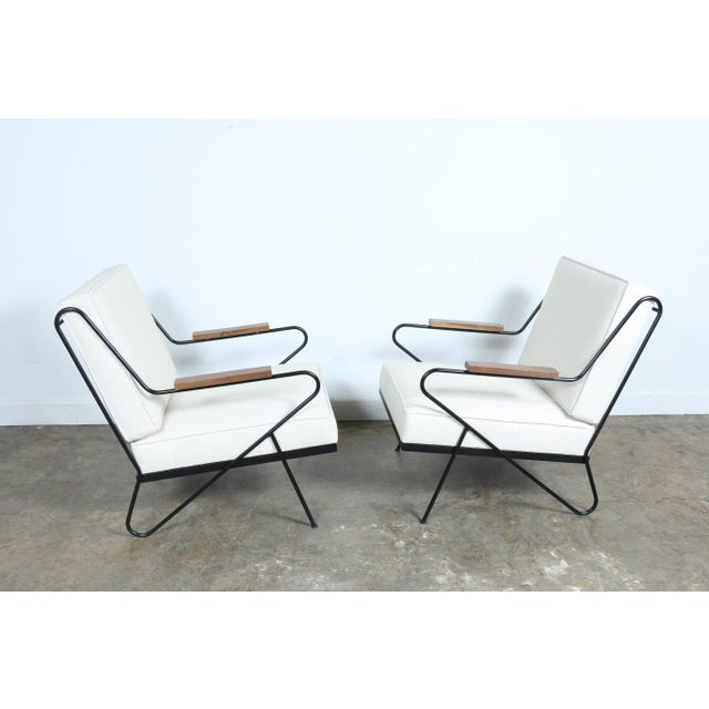 Wrought Iron Modern Chairs - A Pair - Image 6 of 9
