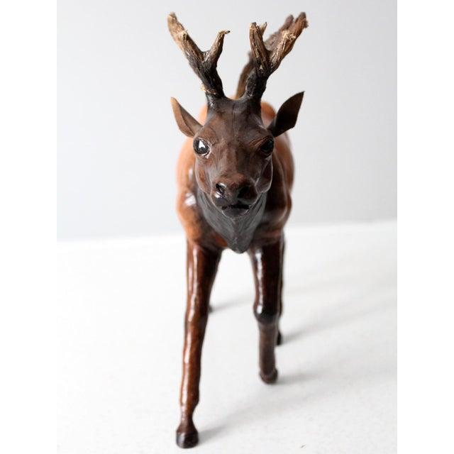 Vintage Leather Reindeer Sculpture For Sale - Image 4 of 10
