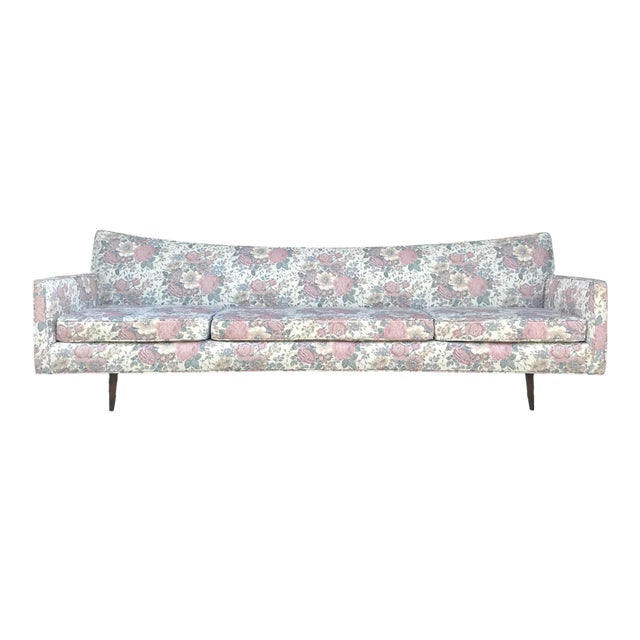 "97"" Mint Condition Curved Front Sofa Mid Century McCobb Style For Sale"
