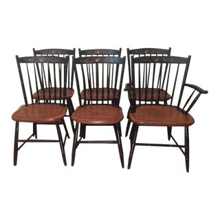 Hitchcock Windsor Back Maple Dining Chairs - Set of 6 For Sale