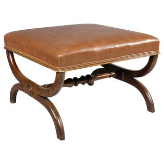 Regency Rosewood Klismos Form Bench For Sale