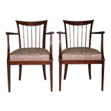 Image of Pair of French Walnut Armchairs For Sale