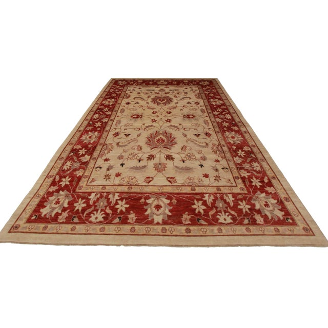 Peshawar Hand-Knotted Wool Rug - Image 2 of 2