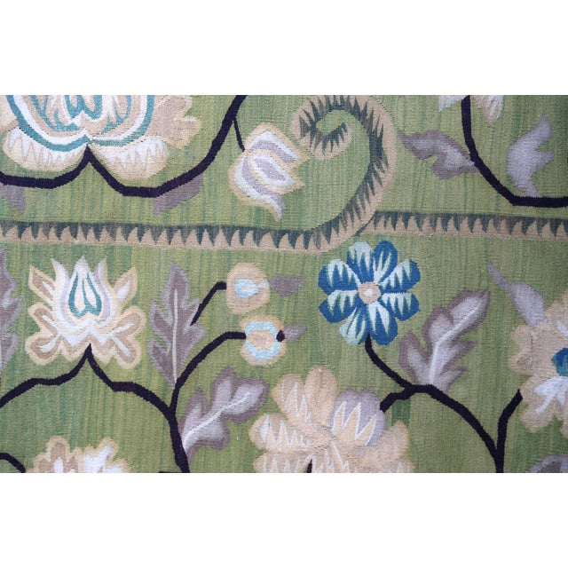 Handmade vintage Bessarabian kilim from Romania in decorative design. Vegetable dyes, the rug is in original good...